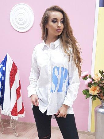 Paetka. Рубашка из льна с эффектной надписью. Артикул: 650