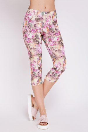 "ArtStyleLeggings. Лосины ""FLOWER SHORT"". Артикул: LSN-194D"