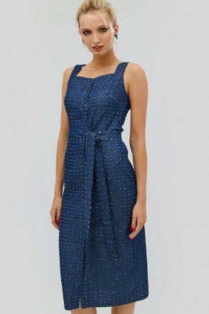 "Nomes. Платье ""VERNIS"" темно-синий. Артикул: NMS1714-0128"