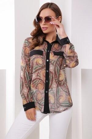 MarSe. Рубашка. Артикул: 1787 коричневый