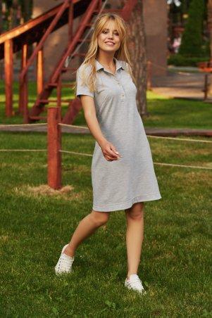 Marterina. Платье-поло трикотажное серое. Артикул: K09P64TR10