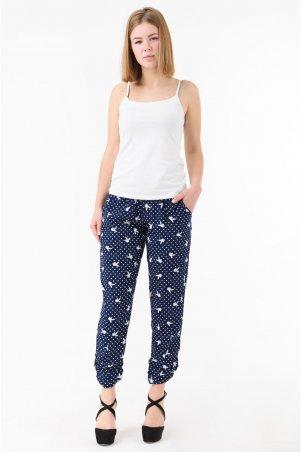 Caramella. Летние женские брюки батал. Артикул: CR-10147-10 синий