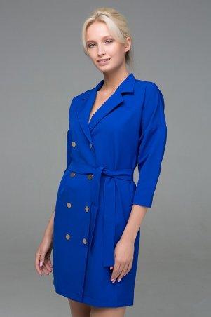 Zefir. Двубортное платье на кнопках. Артикул: ERIKA электрик