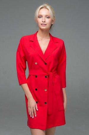 Zefir. Двубортное платье на кнопках. Артикул: ERIKA красное