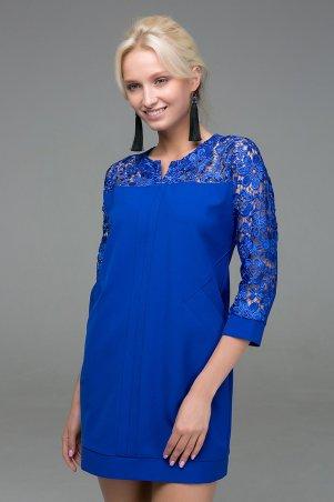 Zefir. Платье с карманами. Артикул: BELL синее