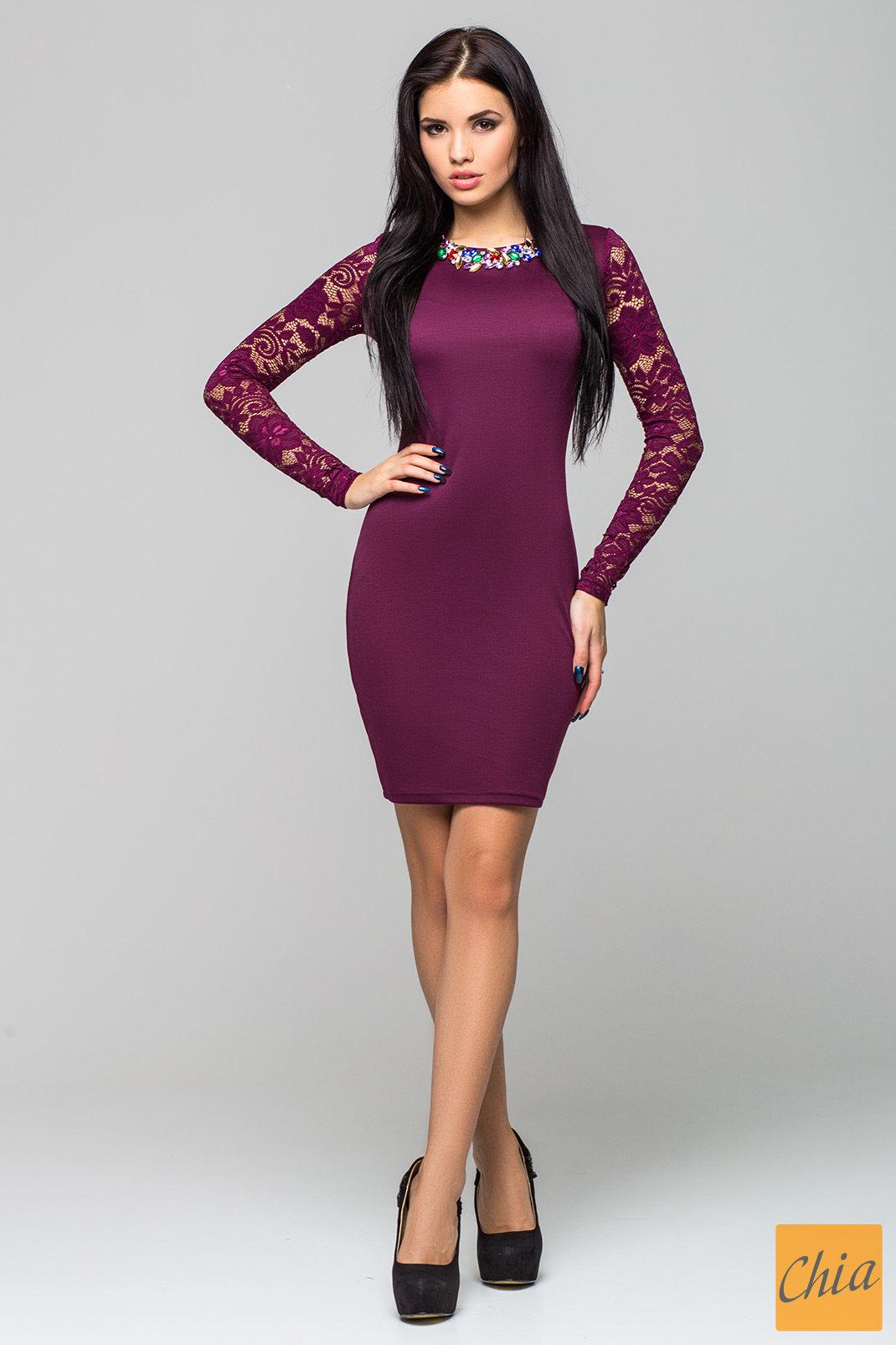 Платье Лия PL1032 от , цвет бордовый
