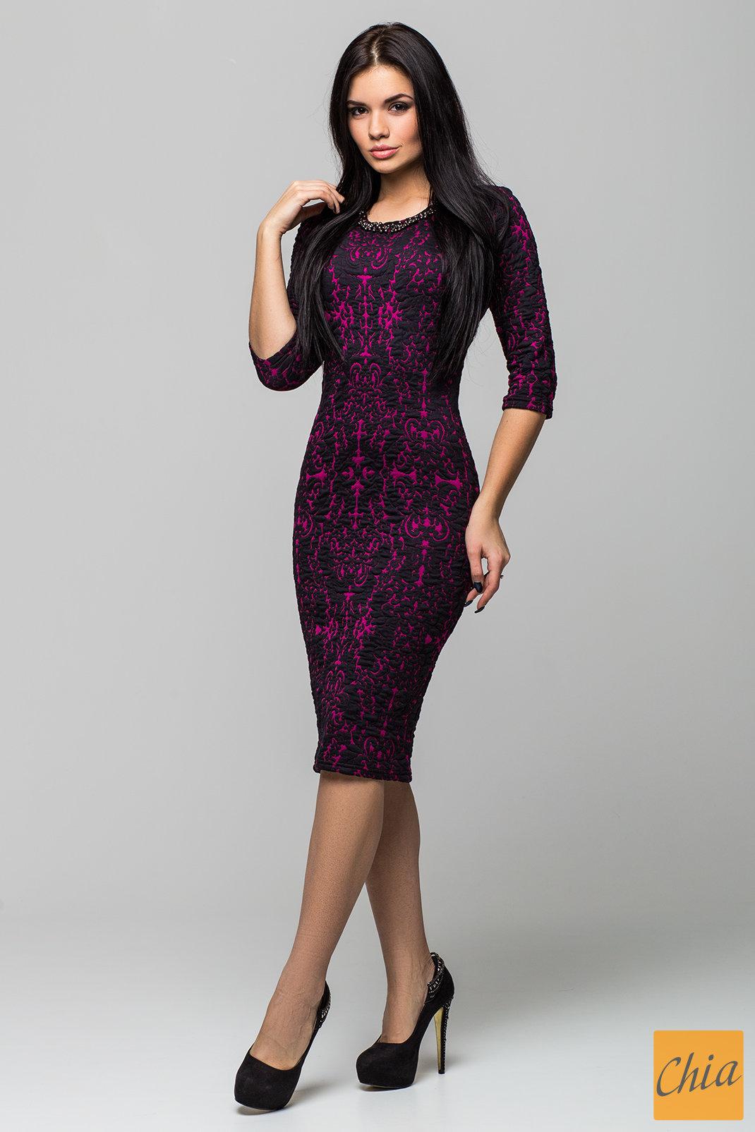 Платье Жаккард PG1074 от , цвет бордовый