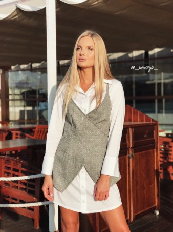 New Style. Комплект (рубашка и жилет). Артикул: 1302_твид