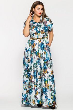 Vlavi. Длинное нежное платье Алена белое. Артикул: 1143