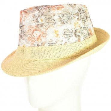 Cherya Group. Шляпа Челентанка. Артикул: 12017-15 коричневый-бежевый