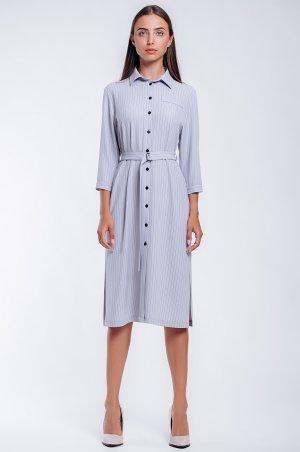 S.OVA. Стильное офисное платье-рубашка длиной до колена. Артикул: S1225