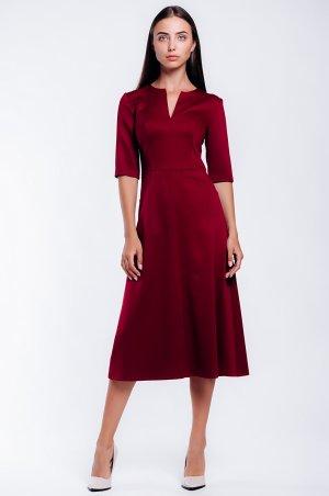 S.OVA. Классическое офисное платье с расклешенной юбкой. Артикул: S11625