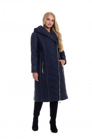 Vicco. Зимнее двубортное пальто-пуховик на синтепоне BABOCHKA 19 (цвет синий). Артикул: 113