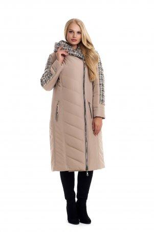 Vicco. Зимнее двубортное пальто-пуховик на синтепоне BABOCHKA 19 (цвет бежевый). Артикул: 112