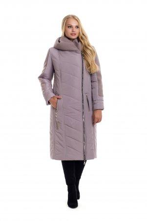 Vicco. Зимнее двубортное пальто-пуховик на синтепоне BABOCHKA 19 (цвет тёмно-бежевый). Артикул: 110