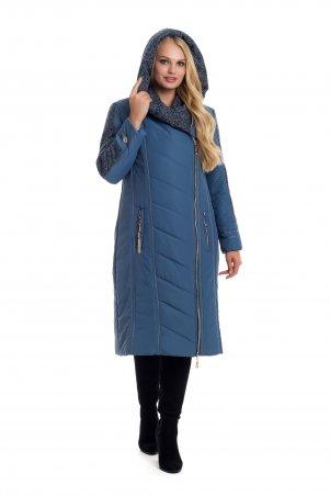 Vicco. Зимнее двубортное пальто-пуховик на синтепоне BABOCHKA 19 (цвет джинса). Артикул: 107