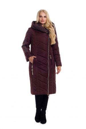 Vicco. Зимнее двубортное пальто-пуховик на синтепоне BABOCHKA 19 (цвет марсала). Артикул: 106