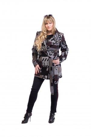 Vicco. Пальто женское весеннее с абстракционным дизайном SILVIA. Артикул: 19