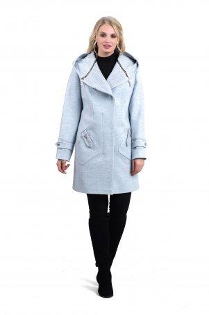 Vicco. Пальто женское осень-весна «DELFI» (цвет голубой). Артикул: 11