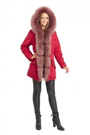 Caramella. Куртка парка с искусственным мехом. Артикул: CR-60112-RED