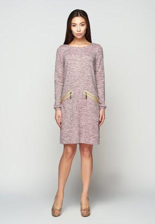 A-Dress. Прямое платье из рогового меланжа с золотыми молниями. Артикул: 707111