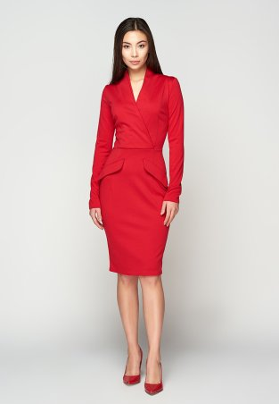 A-Dress. Эффектное алое платье по фигуре. Артикул: 707301