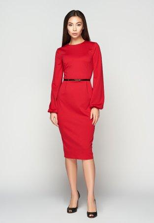 A-Dress. Алое платье с оригинальными рукавами. Артикул: 707201