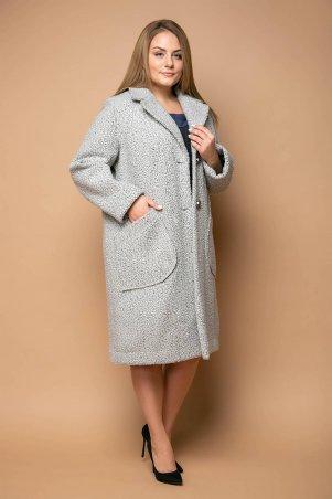 Tatiana. Модное прямое пальто. Артикул: ЭСТЕЛЬ серое