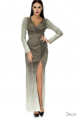 Angel PROVOCATION. Платье. Артикул: Экси бежевый+золото