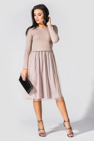 TessDress. Нарядное платье с трикотажным верхом и фатиновой юбкой «Фиби». Артикул: 1631