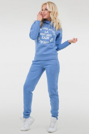 V&V. Спорт костюм женский 055 голубой флис. Артикул: 055