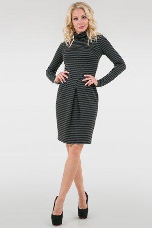 V&V. Платье 1650.40 серо-черное. Артикул: 1650.40