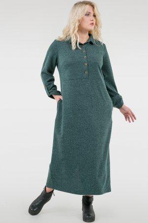 V&V. Платье 2677-1.105 зеленое. Артикул: 2677-1.105
