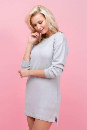 Zefir: Платье-туника из ангоры PARI серая - главное фото