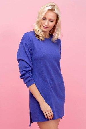 Zefir: Платье-туника из ангоры PARI синяя - главное фото