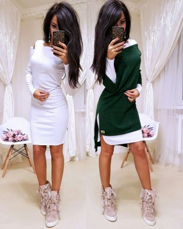 SHELKA. Платье-двойка Изумруд. Артикул: SH020-3