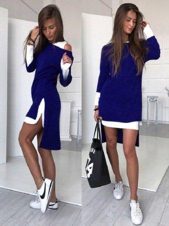 SHELKA. Платье-двойка Синий. Артикул: SH020-4
