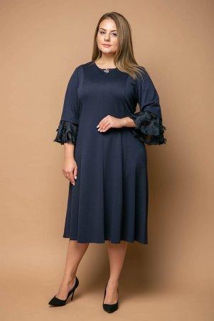 Tatiana. Нарядное платье с воланами. Артикул: ИТОН темно-синее