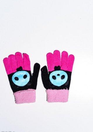 ISSA PLUS. Детские перчатки и варежки. Артикул: 7874_черный/розовый