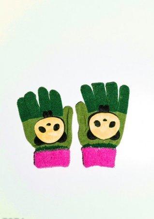 ISSA PLUS. Детские перчатки и варежки. Артикул: 7874_салатовый/зеленый