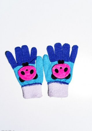ISSA PLUS. Детские перчатки и варежки. Артикул: 7874_белый/бирюзовый
