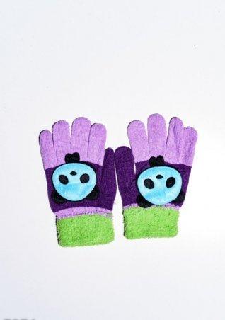ISSA PLUS. Детские перчатки и варежки. Артикул: 7874_салатовый/фиолетовый