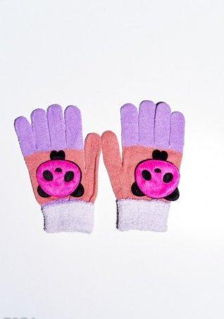 ISSA PLUS. Детские перчатки и варежки. Артикул: 7874_персиковый/сиреневый