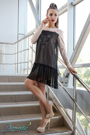 "Daminika. Платье casual с сеткой ""Meon-Kiss"". Артикул: 11739 B"