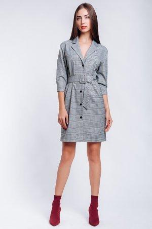 S.OVA. Платье-пиджак в клетку короткое. Артикул: S1233
