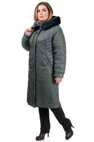 """A.G.. Зимнее пальто """"Орнелла"""". Артикул: 211 зеленый"""