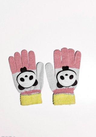 ISSA PLUS. Детские перчатки и варежки. Артикул: 7874_желтый/персиковый