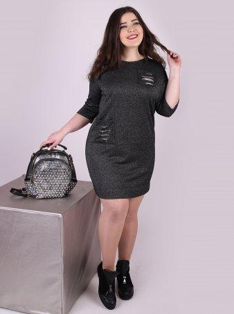 Eva Style. Платье. Артикул: 1147_темно_серый