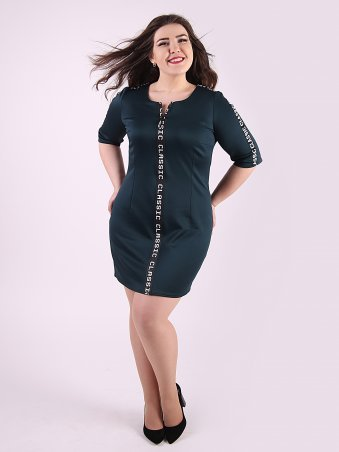 Eva Style. Платье. Артикул: 1151_бутылочный