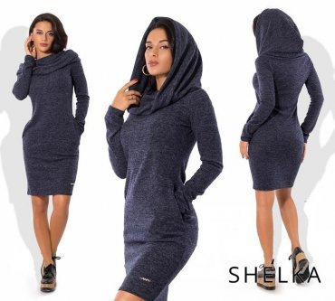 SHELKA. Платье с хомутом Синий. Артикул: SH028-2